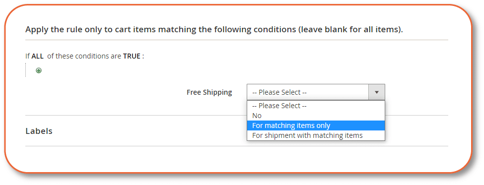 apply the rule to cart items