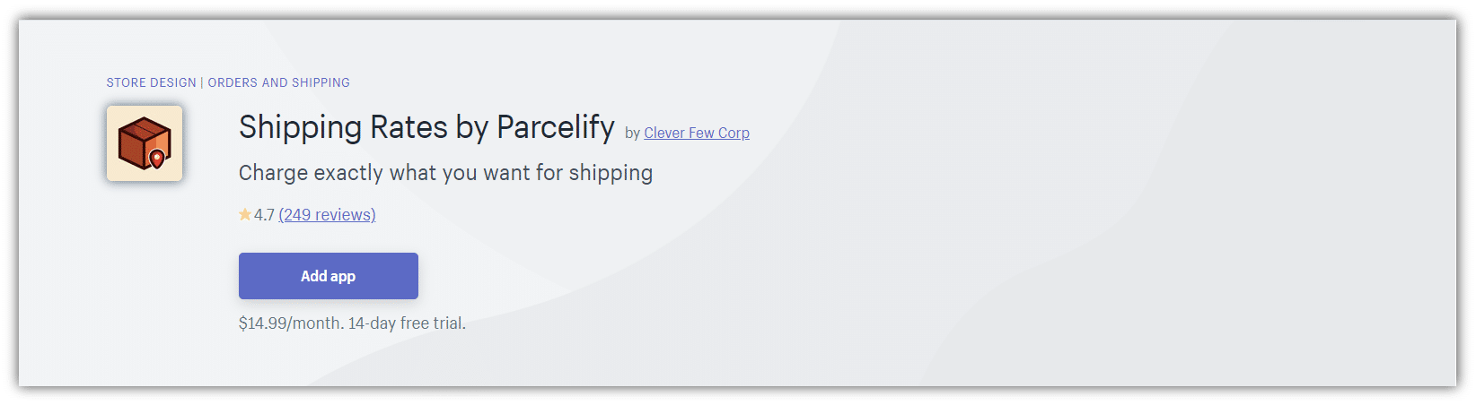 Shipping Rates by Parcelify