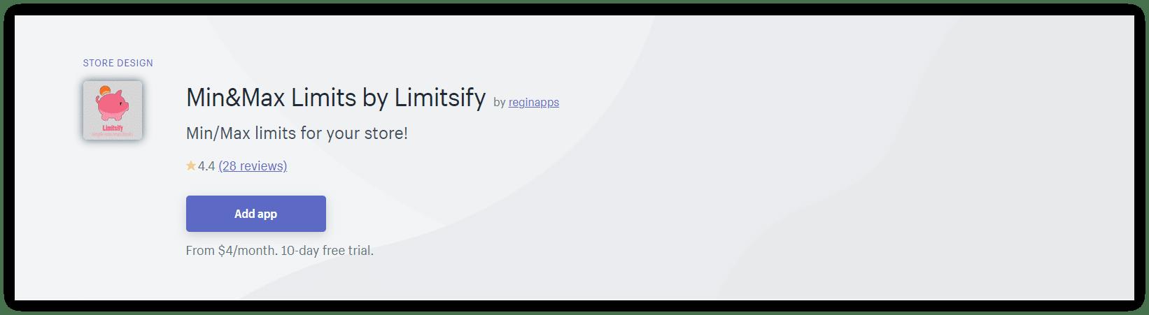 Min&Max Limits by Limitsify