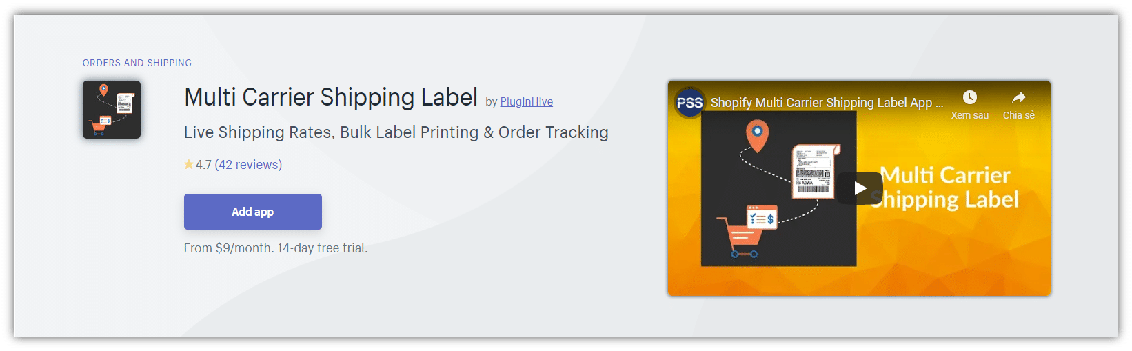 Multi Carrier Shipping Label