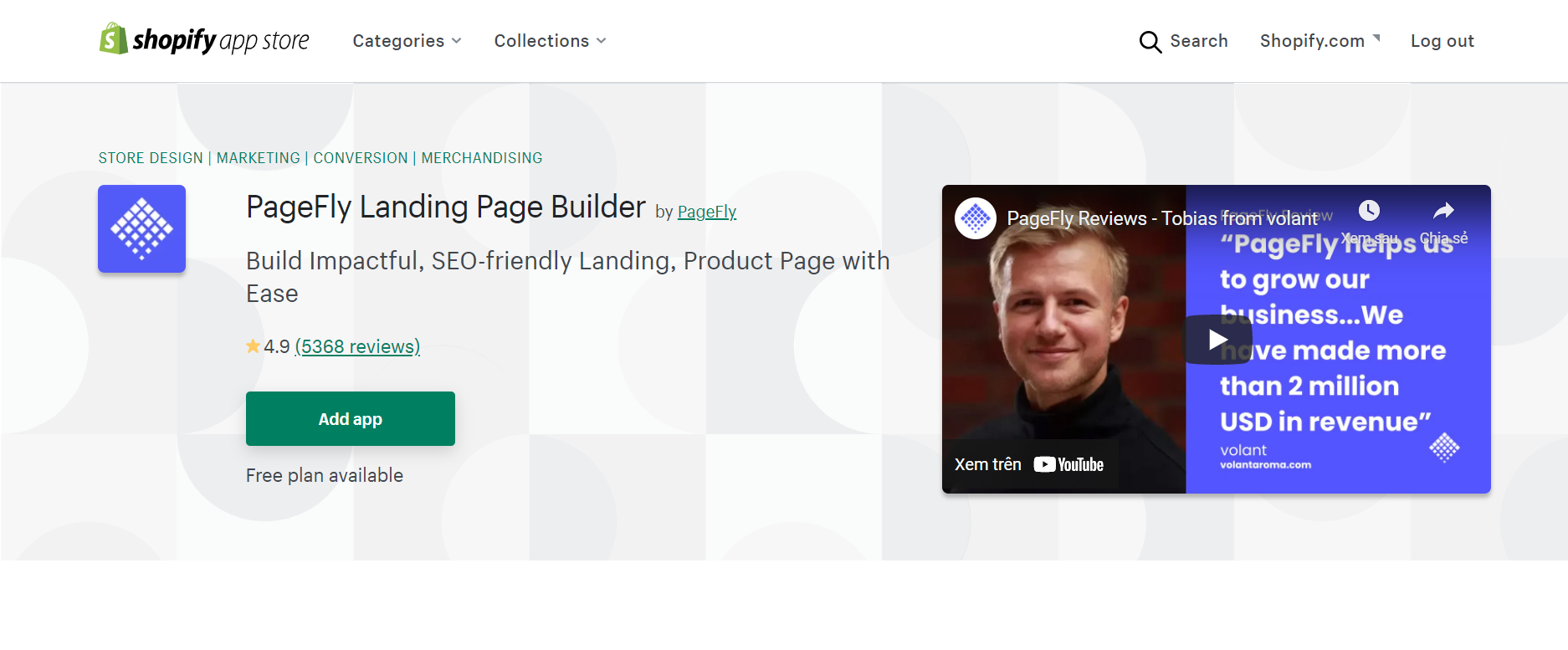 pagefly landing page builder