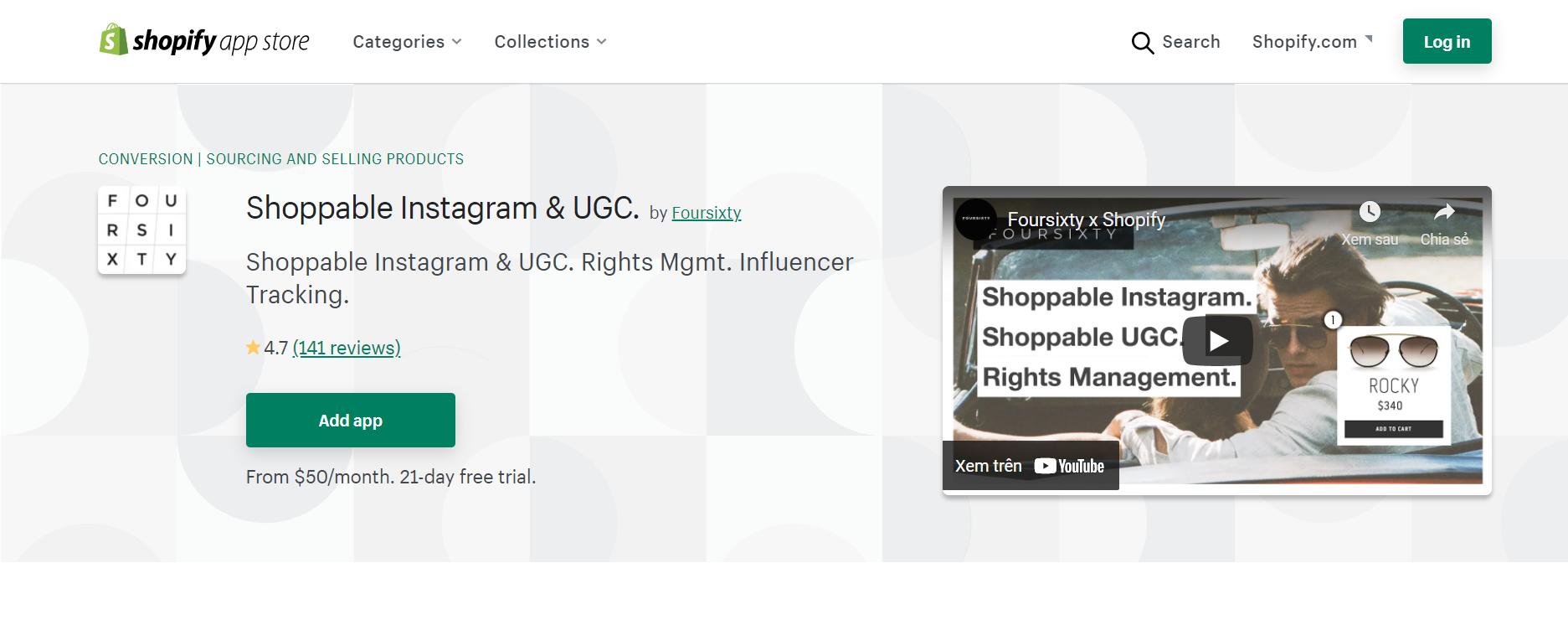 shoppable instagram & ugc by foursixty
