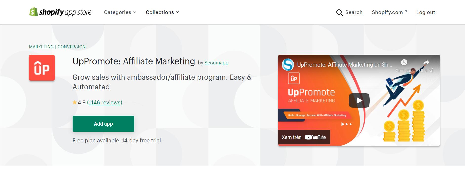 uppromote affiliate marketing