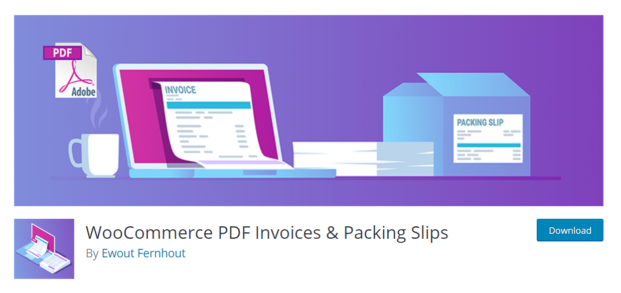 WooCommerce PDF Invoices & Packing Slips extension