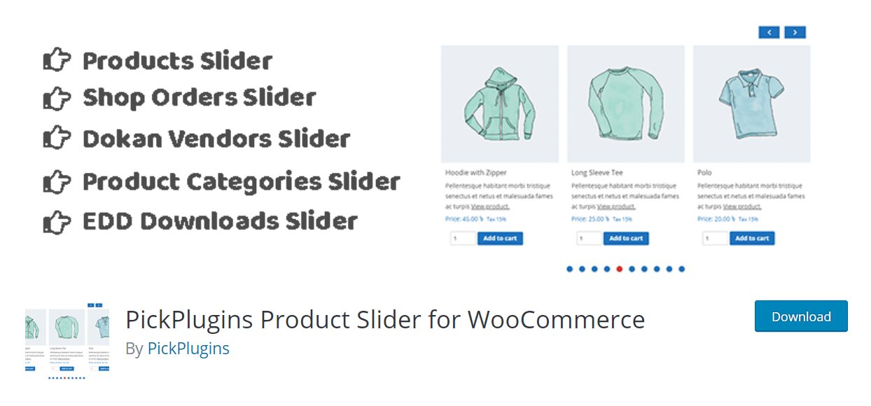 PickPlugins Product Slider for WooCommerce extension